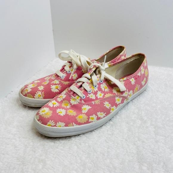 Keds Originals Pink Daisy Print Lace Up Shoes